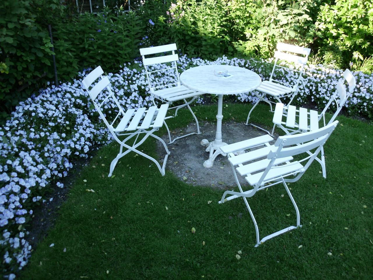 Gartensitzmöglichkeiten