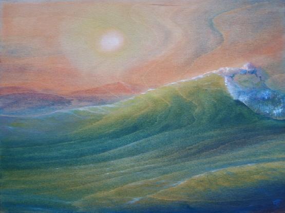 Jens Peter Tschuschke – Wellen Aquarelle und Ölmalerei