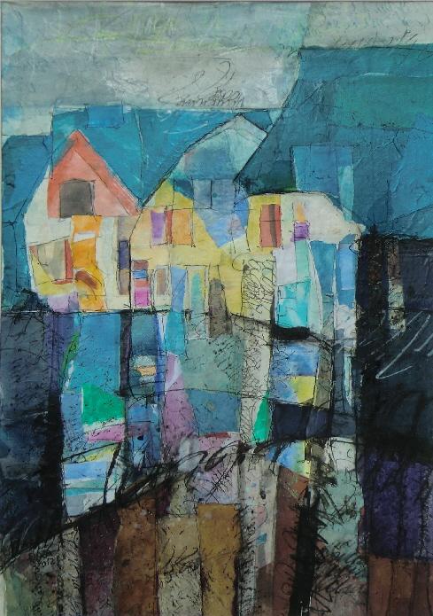 Rosa Hipp Collagen, Malerei