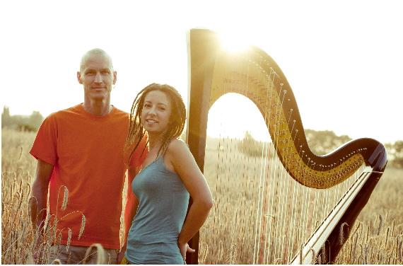 Jeanine Vahldieck Band – Harfe und Percussion – Harfe OHNE Klassik!