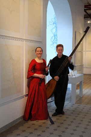 Duo LaVigna – Theorbe und Blockflöte – Christian und Theresia Stahl