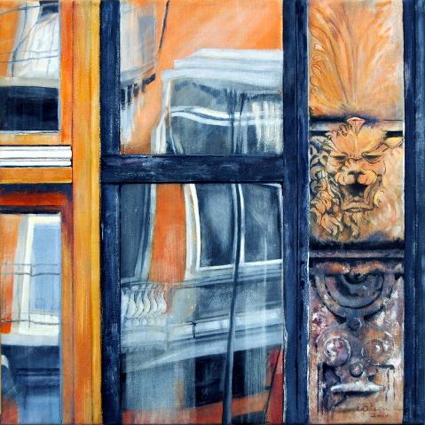 """Bärbel Wieruch – """"GLAS – STAHL – STEIN """" Acrylmalerei"""