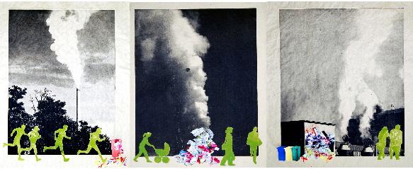 BLICKwechsel Experimentelle Druckgrafik von Uschi Dechow